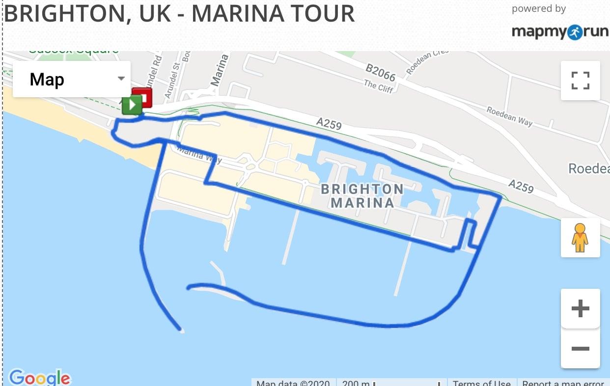 Brighton Marina Running Route