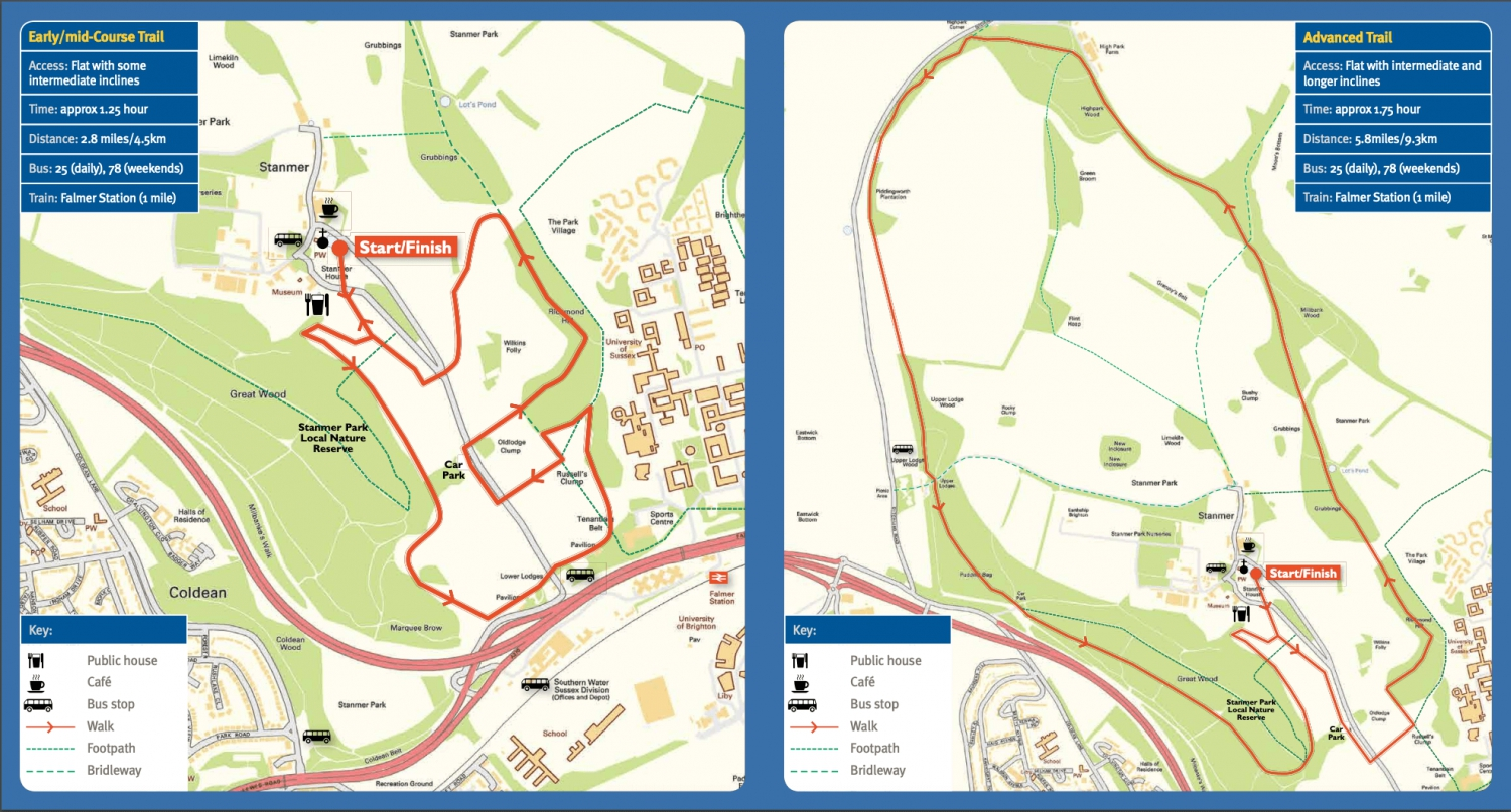 Stanmer Park Running and Walking Routes