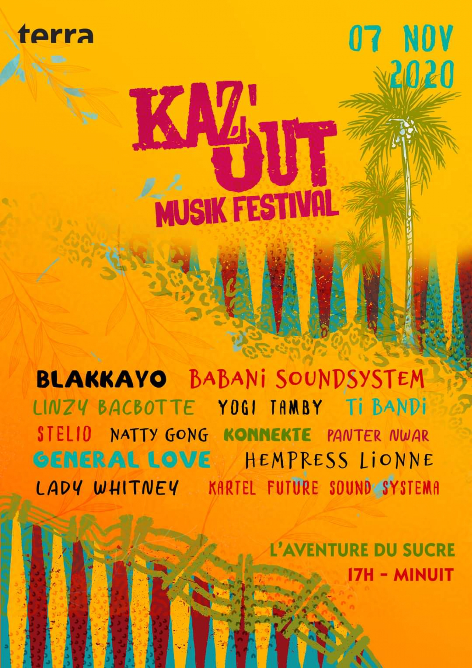 Line-up for Kaz Out Festival 2020