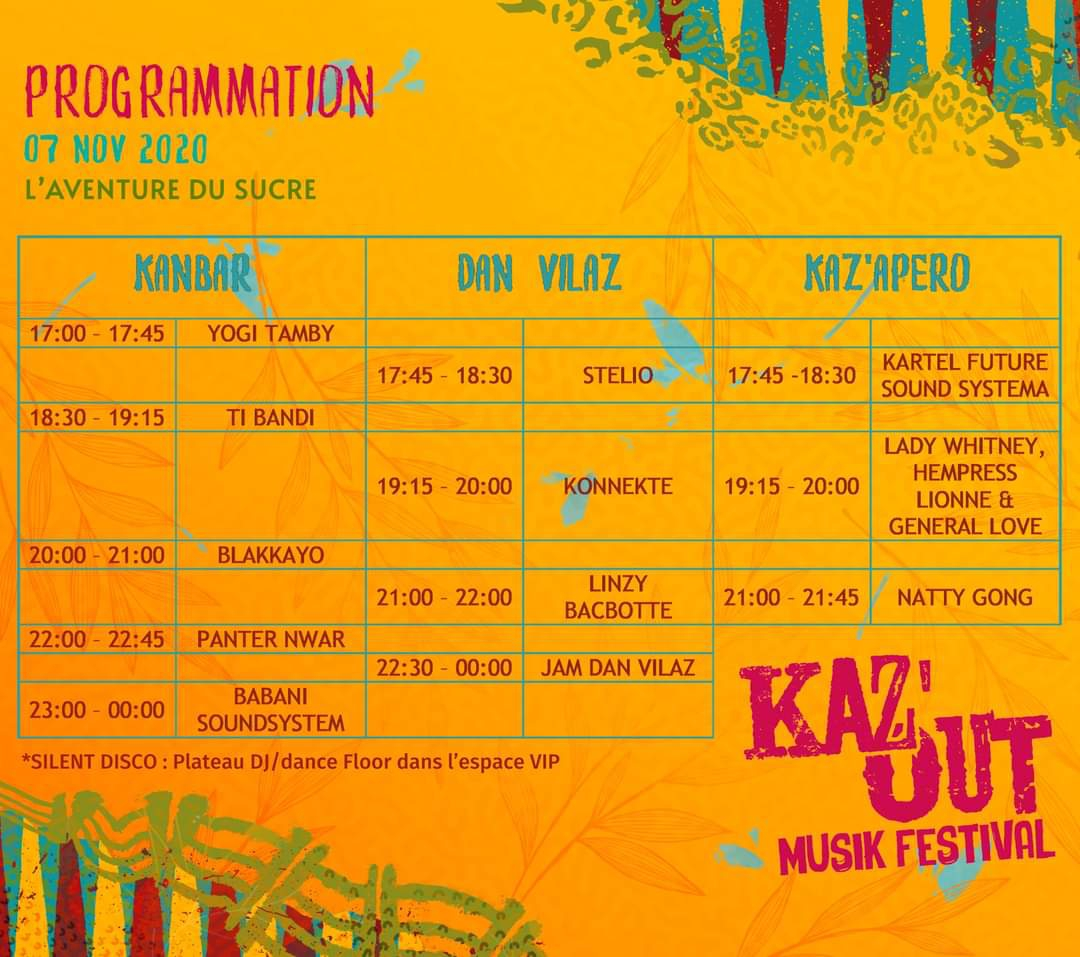 Program for Kaz Out Festival 2020