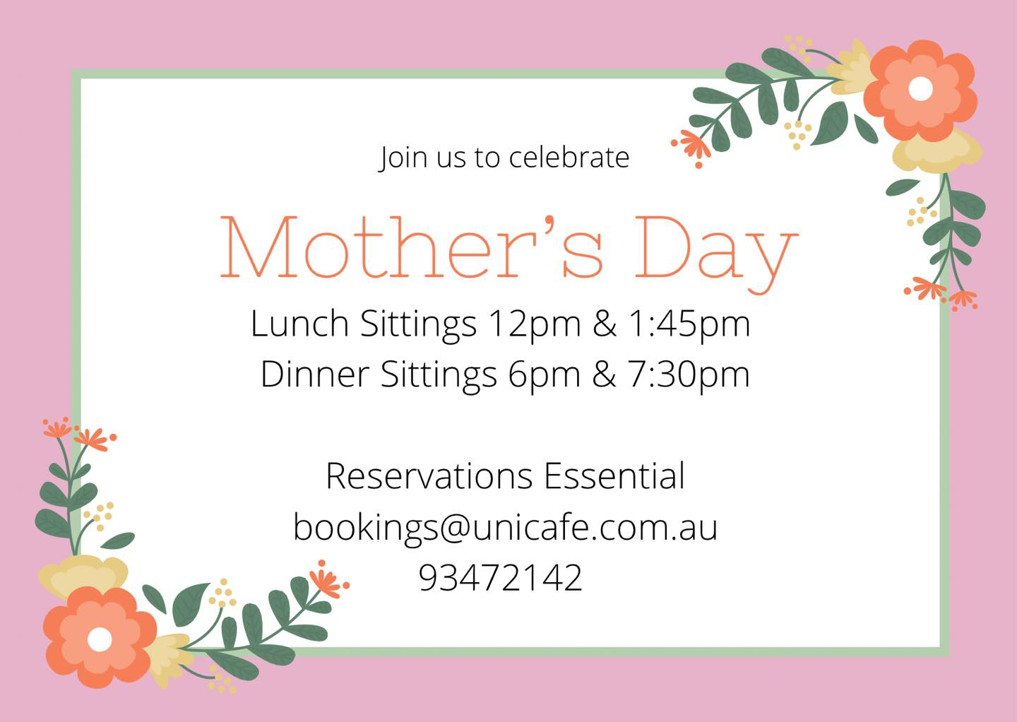 Mother's Day in Melbourne