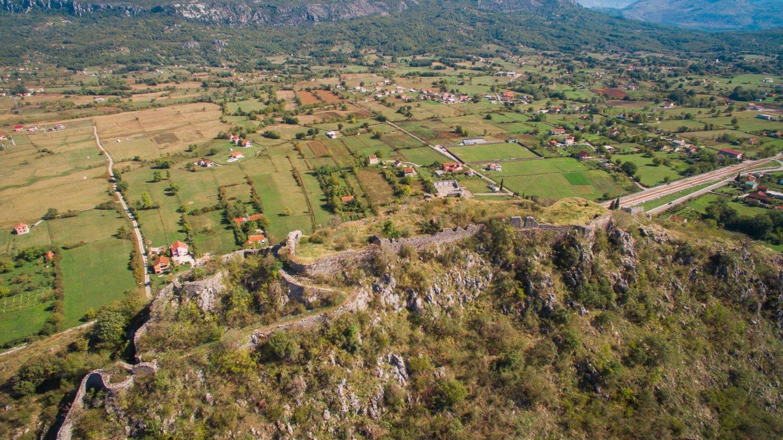 The Few Plains in Mountainous Montenegro