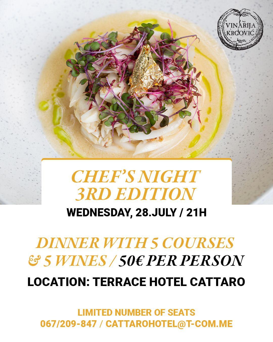 Chef's Night Summer Edition by Hotel Cattaro