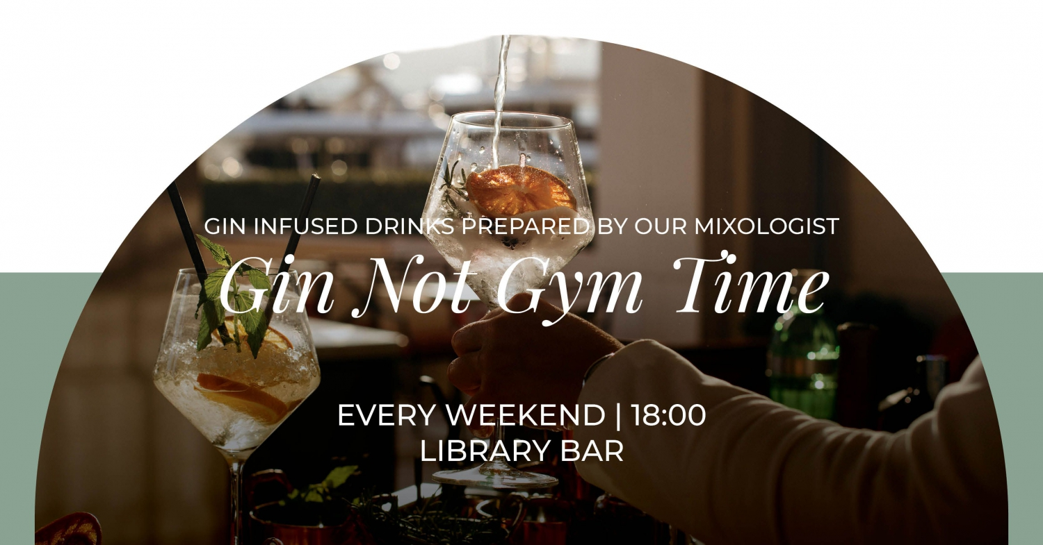 Gin Not Gym Time at Library Bar