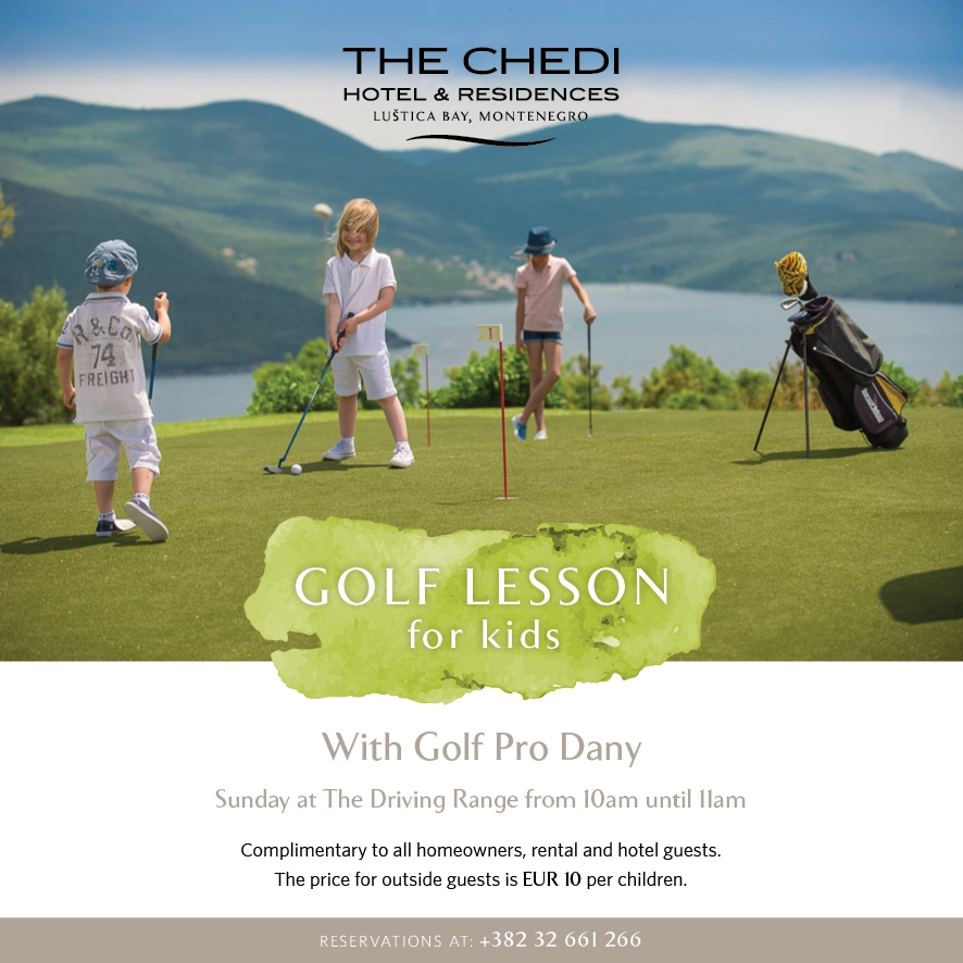 Golf Lessons for Kids at Luštica Bay