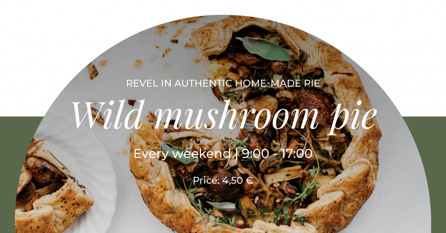 October Weekend Special by Gourmet Corner - Wild Mushroom Pie