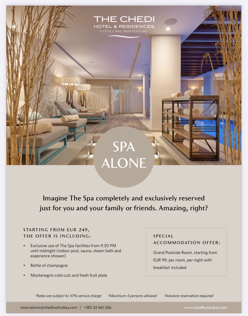 Special Offer at the Chedi Lustica Bay - Spa Alone