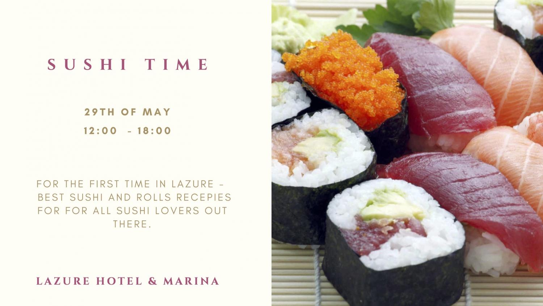Sushi Time at Lazure Hotel