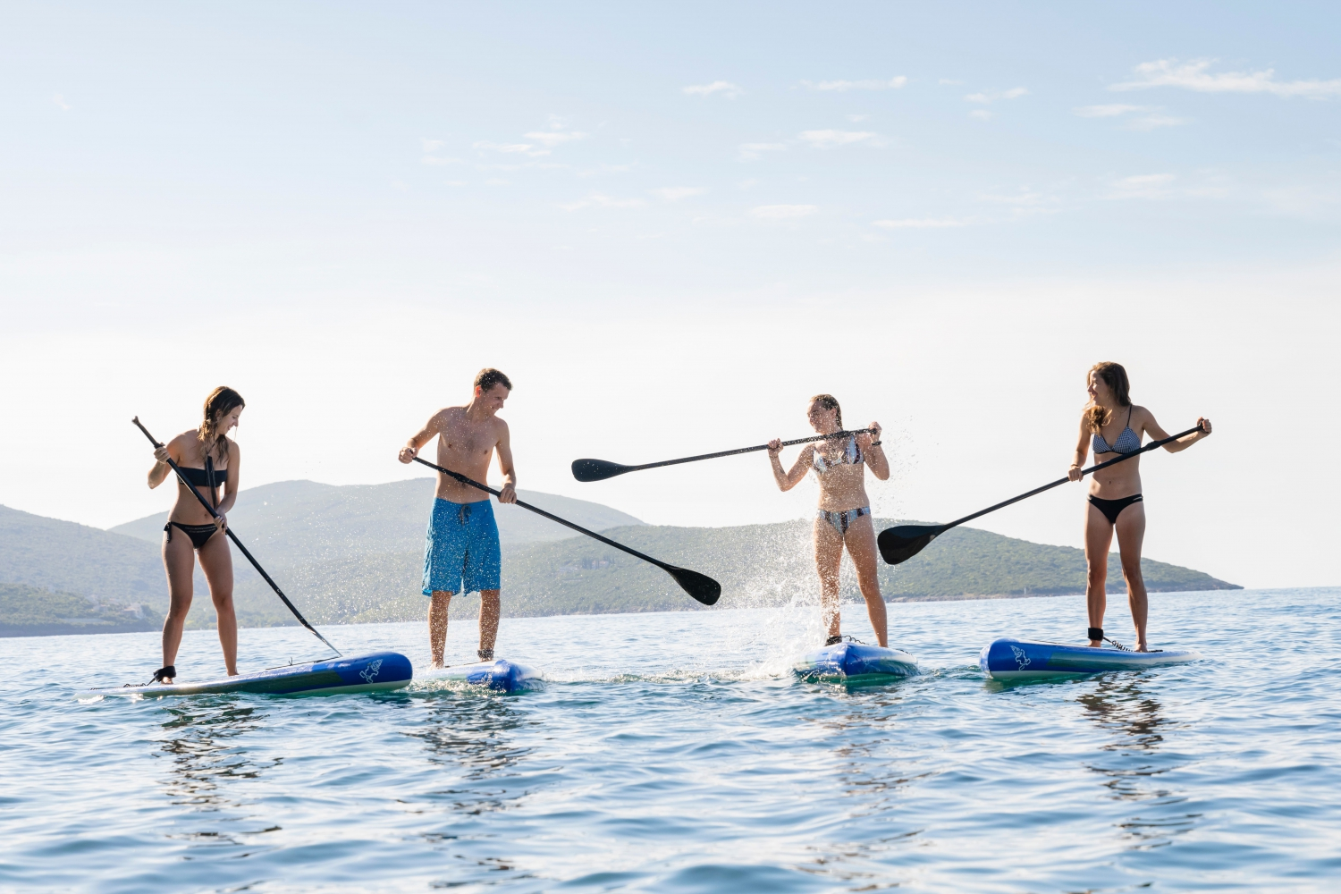 The SUP races at Luštica Bay