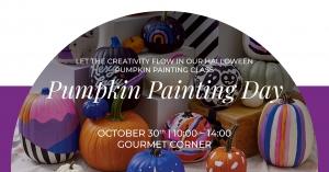 Pumpkin Painting Day at Gourmet Corner