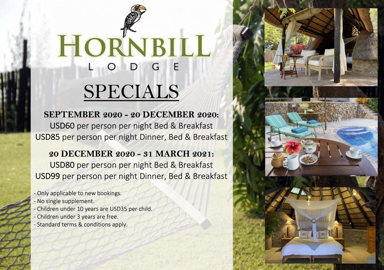Hornbill Lodge, Kariba - 2020 Specials