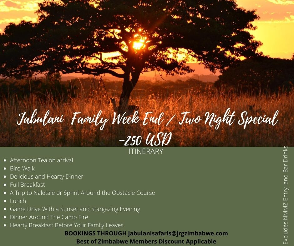 Jabulani Safaris Family Weekend Special