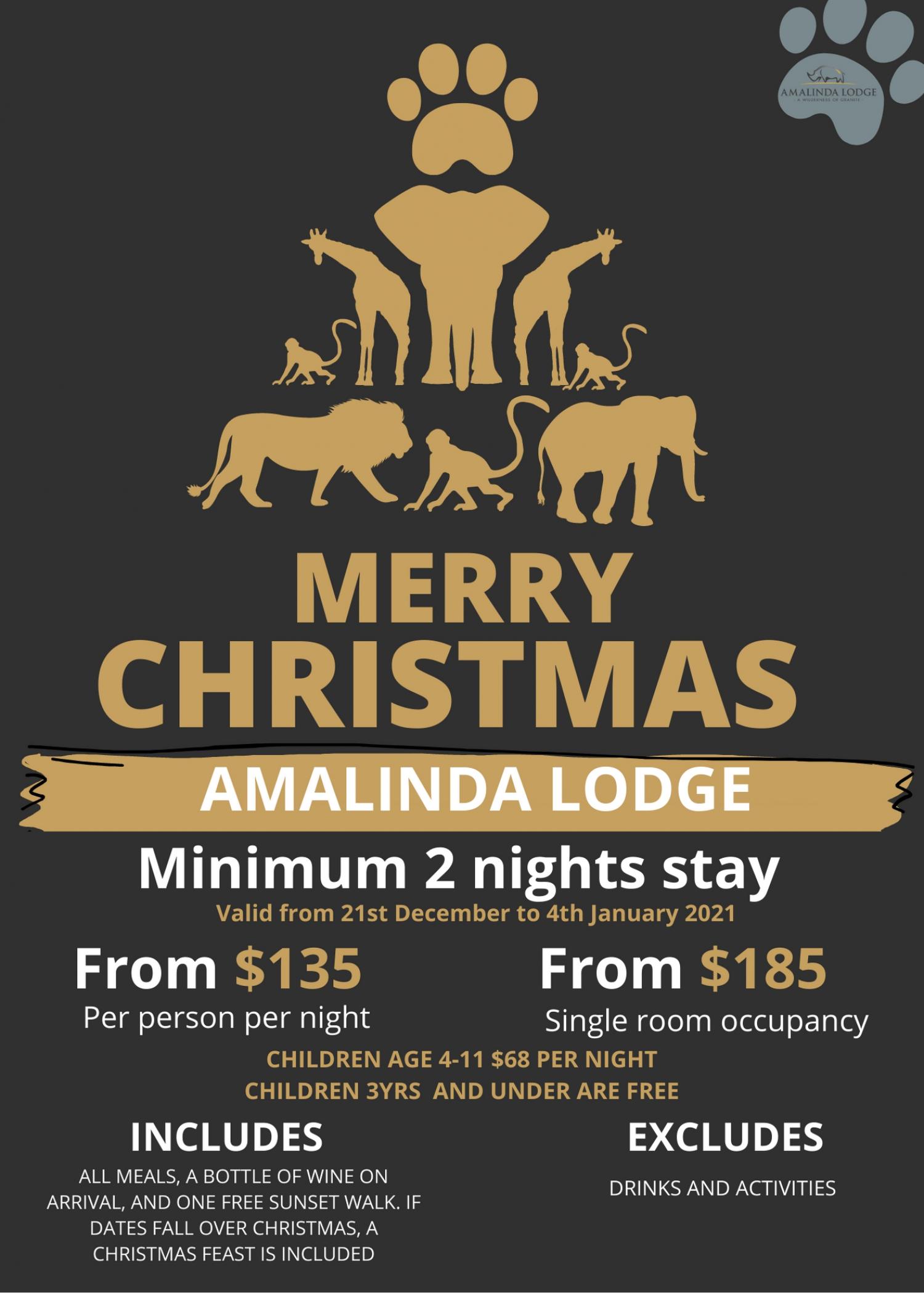 Merry Christmas Special At Amalinda lodge