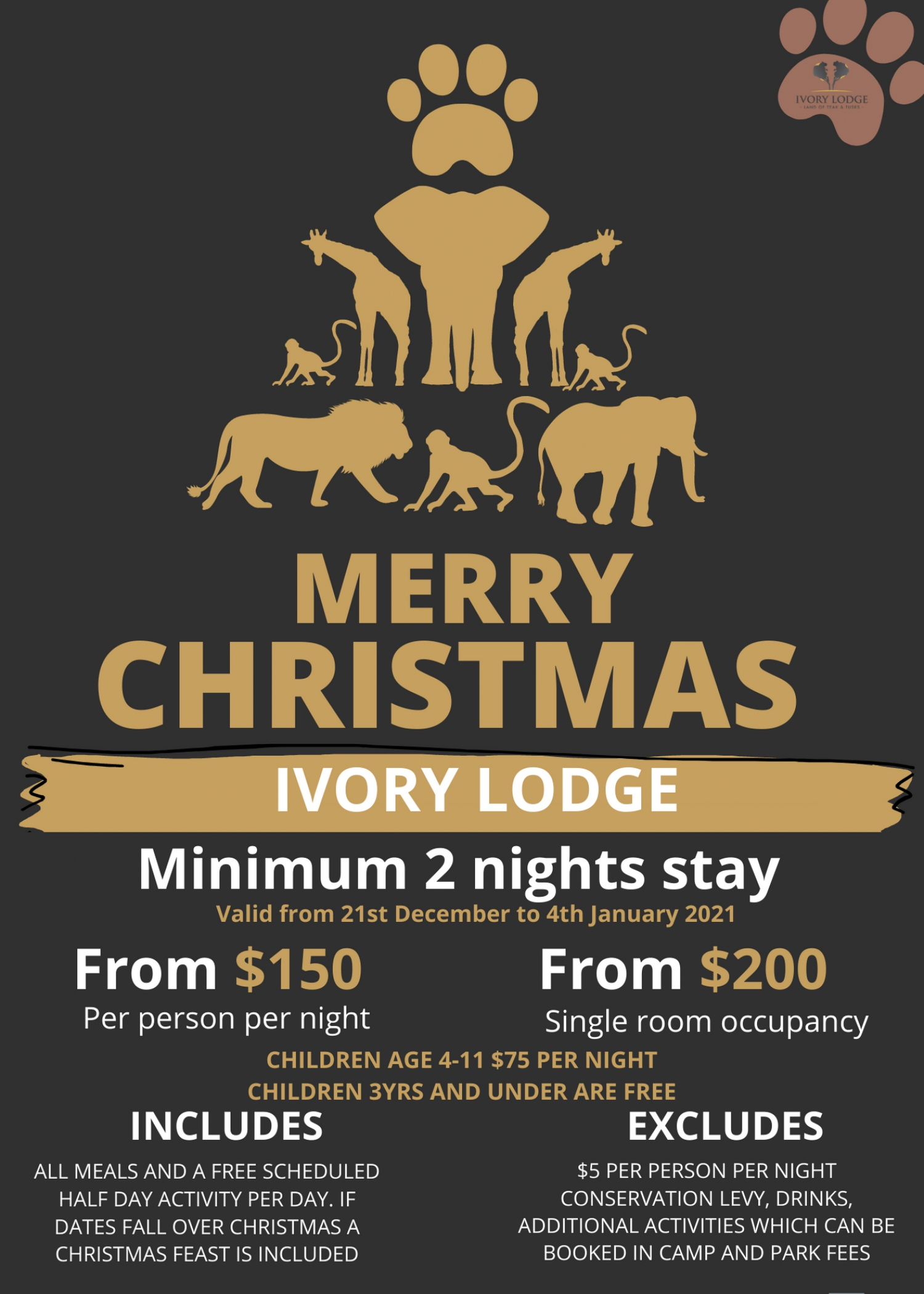 Merry Christmas Special At Ivory Camp