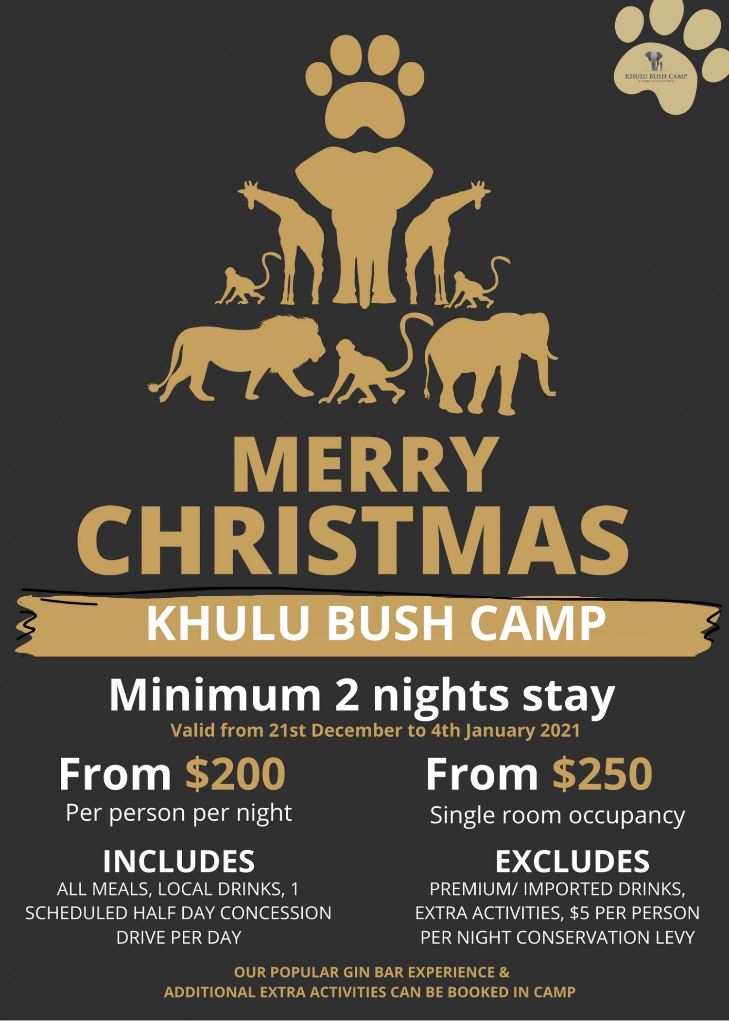 Merry Christmas Special At Khulu Bush Camp