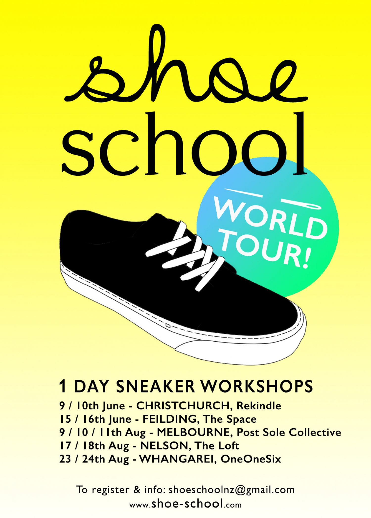 1-day Sneaker workshops