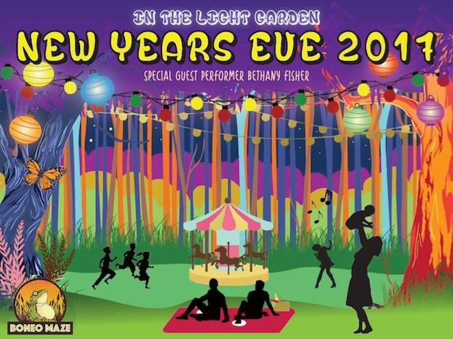Boneo Maze Presents New Years Eve In the Light Garden