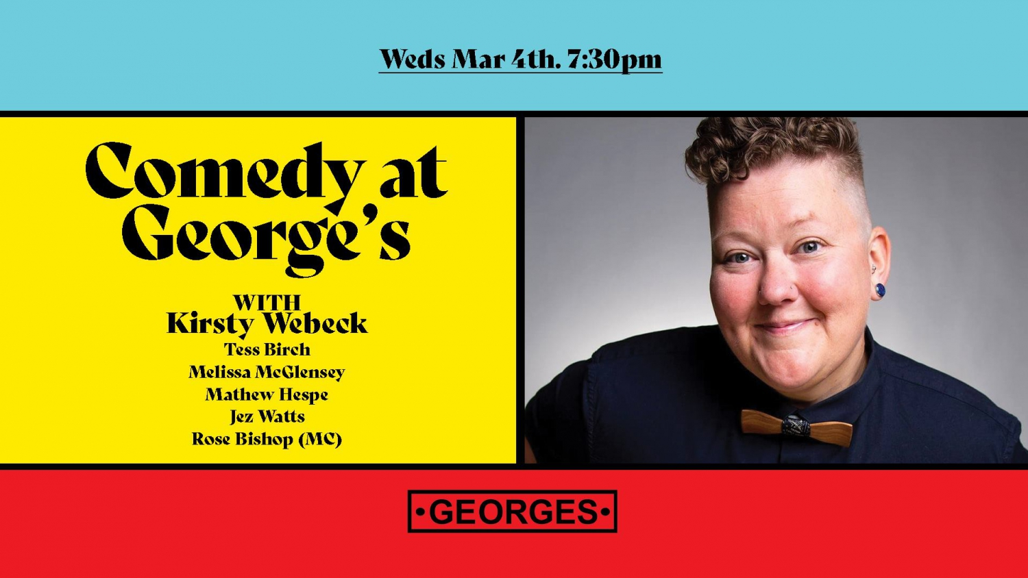 Comedy At George's - Mar 4 - Kirsty Webeck
