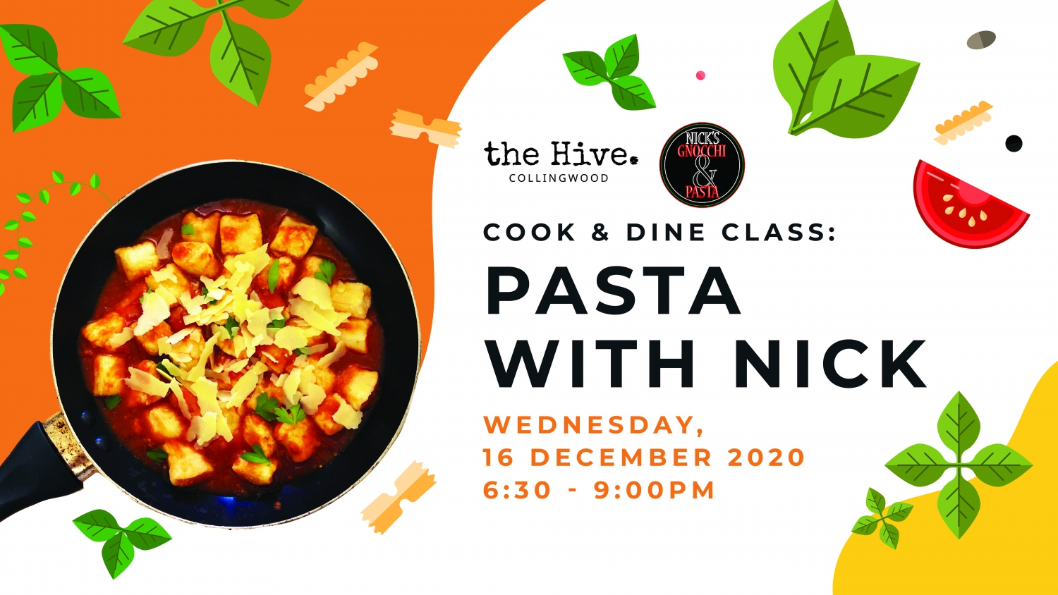 Cook & Dine Class: Pasta with Nick