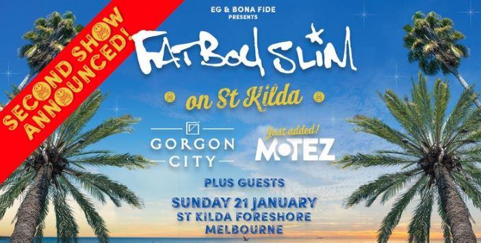 Fatboy Slim on St Kilda - Saturday & Sunday Funday