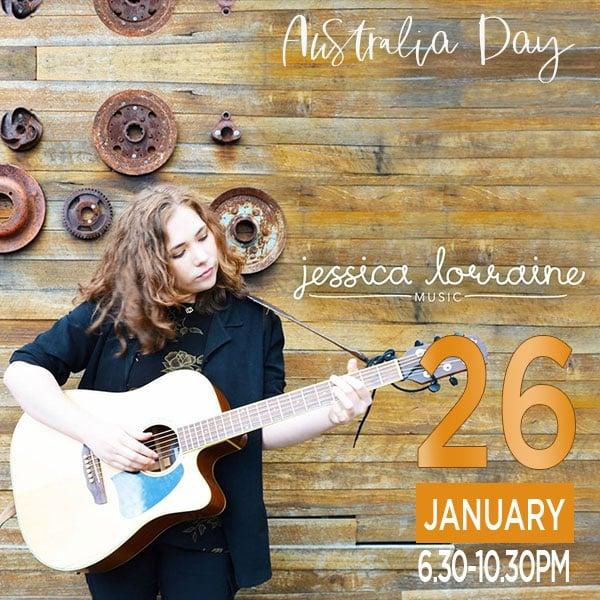 Jessica Lorraine at Swordfish Wine Bar Australia Day