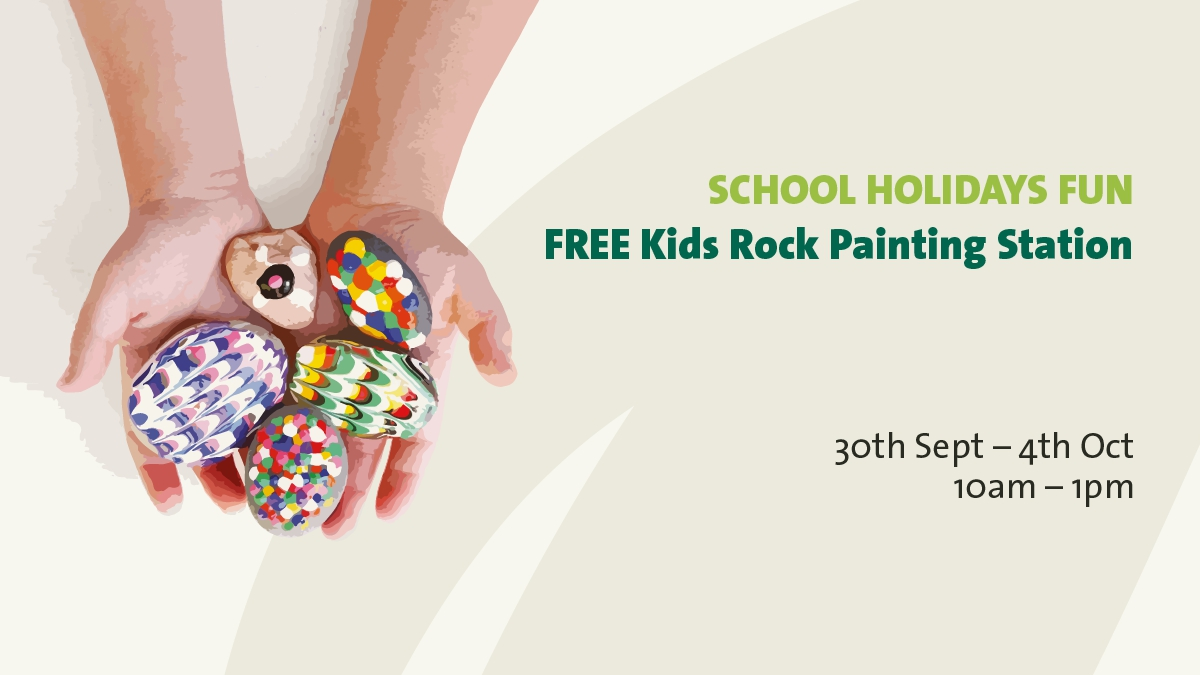 School Holiday Fun - Kids Rock Painting Station