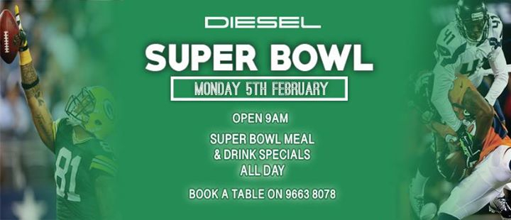 Super Bowl - Book a Table!