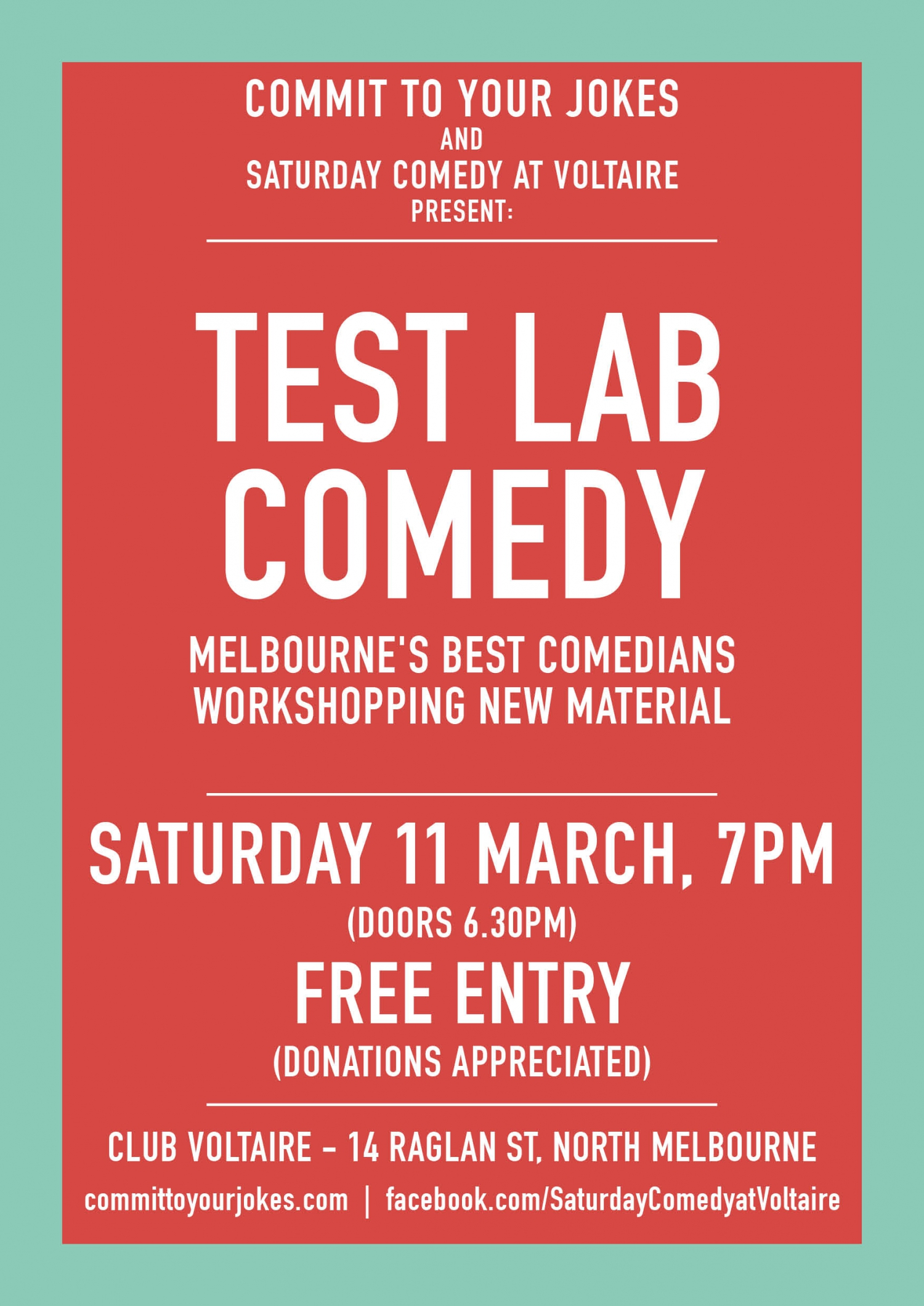 Test Lab Comedy - March 11 - FREE ENTRY!