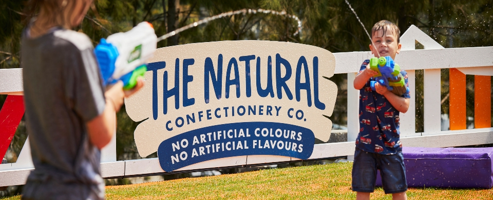 The Natural Confectionary Co. Family Play Splash Park at Australian Open 2020