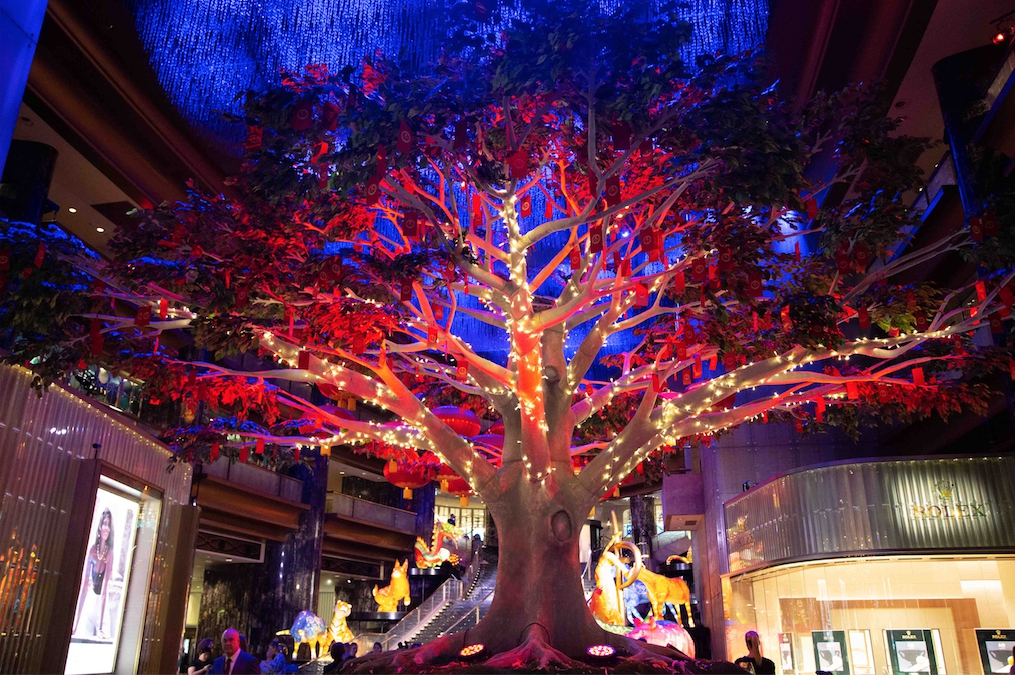 This LNY Crown Melbourne unveils giant Wishing Tree to aid bushfire relief