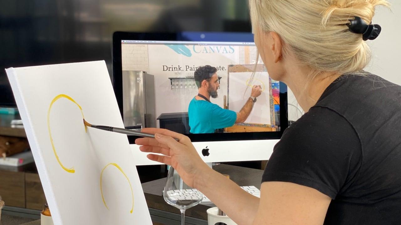 Virtual Art Classes with Cork & Canvas