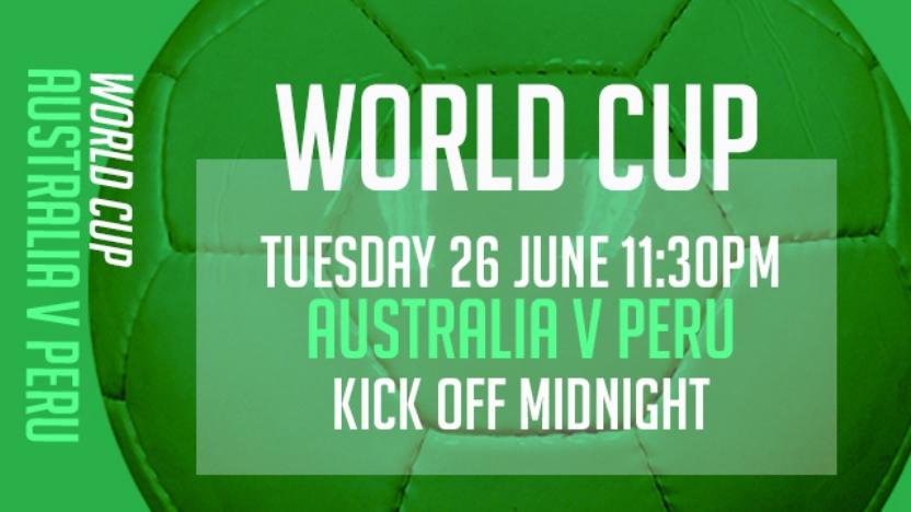 WORLD CUP AUSTRALIA V PERU