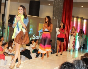 Fashion show at the mall