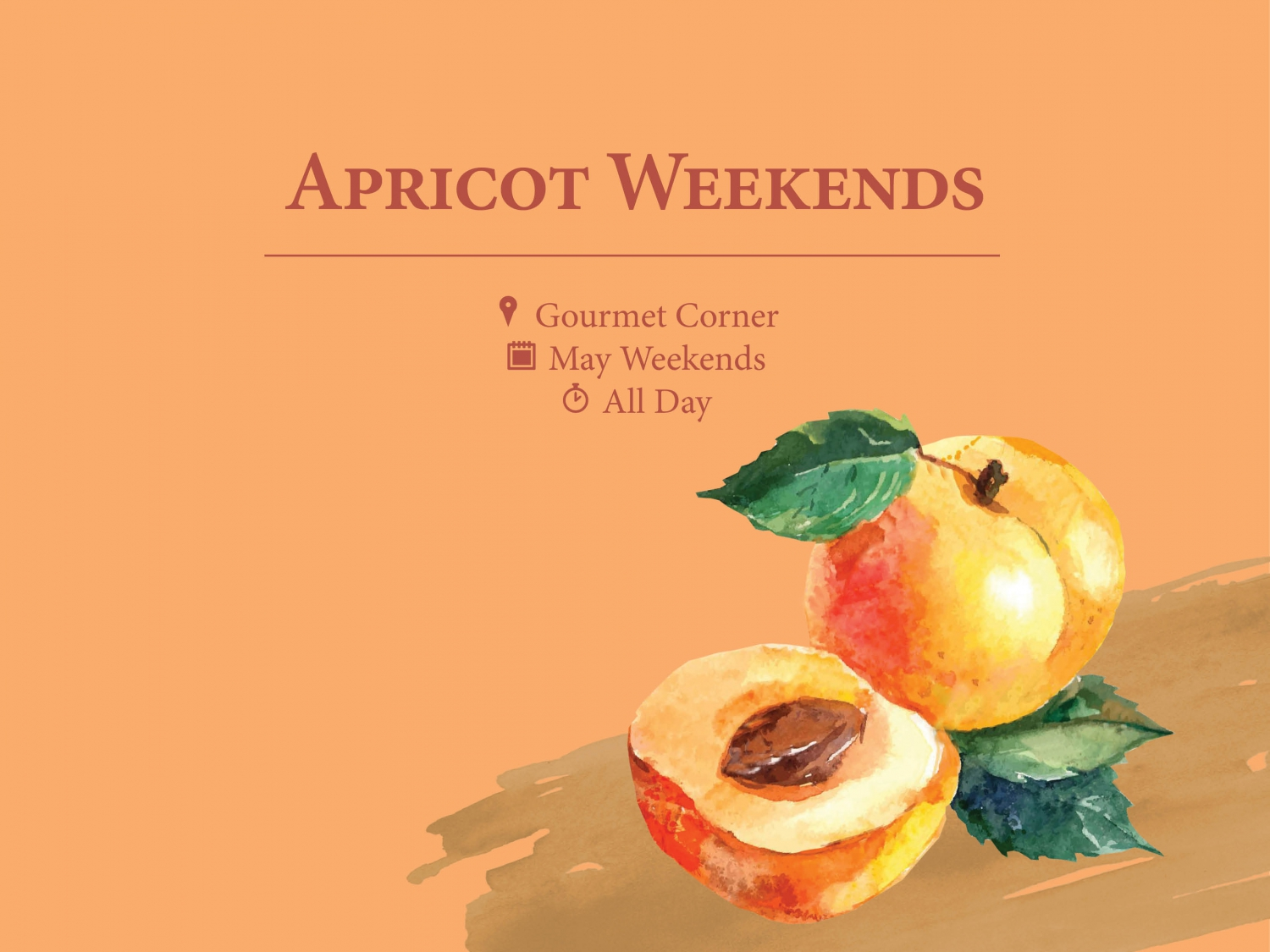 Apricot Weekends at Regent