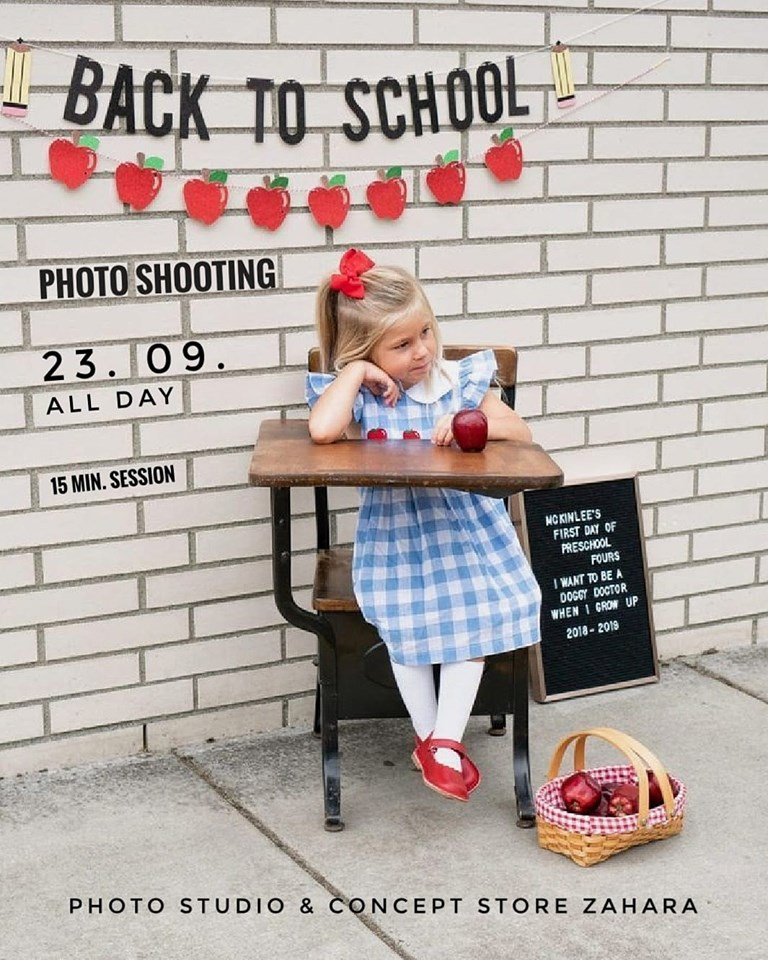 Back To School Photo Shooting at Zahara