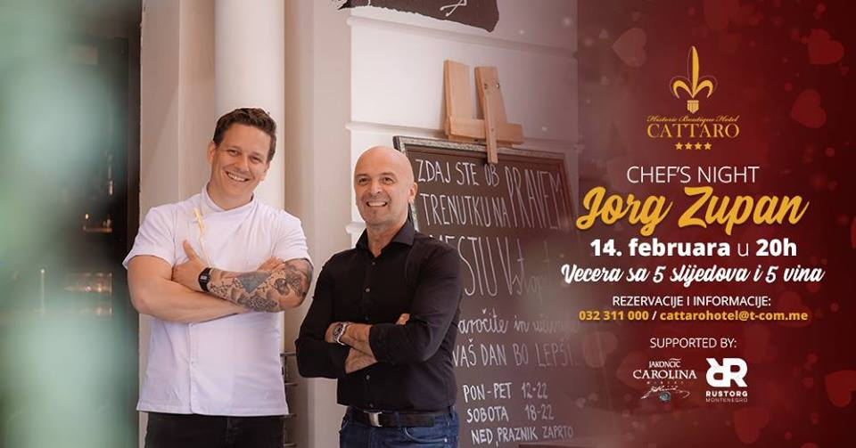Chef's Night by Jorg Zupan at Historic Boutique Hotel Cattaro
