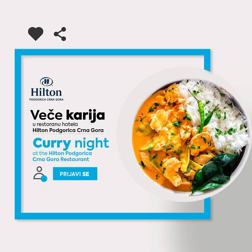 Curry Night at Hilton Podgorica