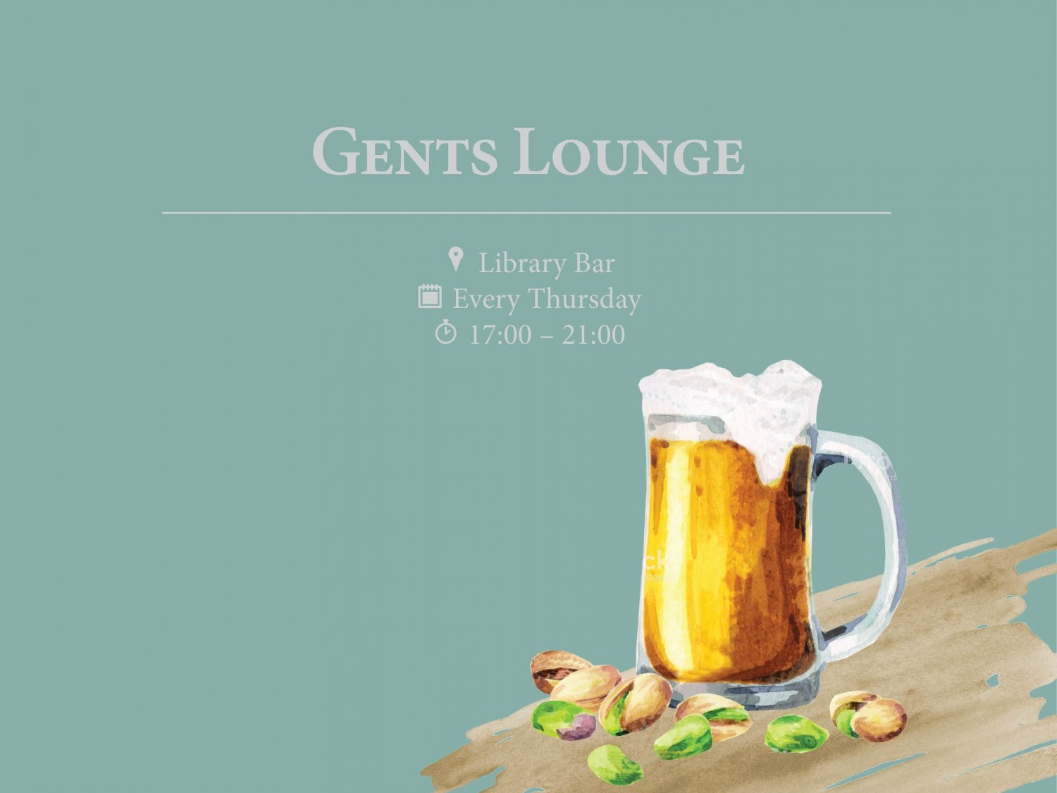 Gents Lounge at Library Bar