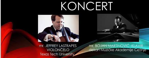 Koncert Mr Jeffrey Lastrapes - Violoncello