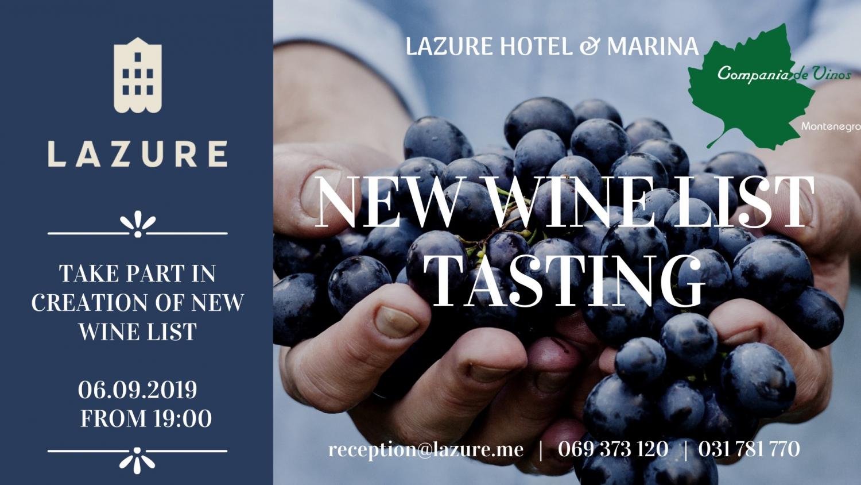 New Wine List Tasting at Lazure Hotel