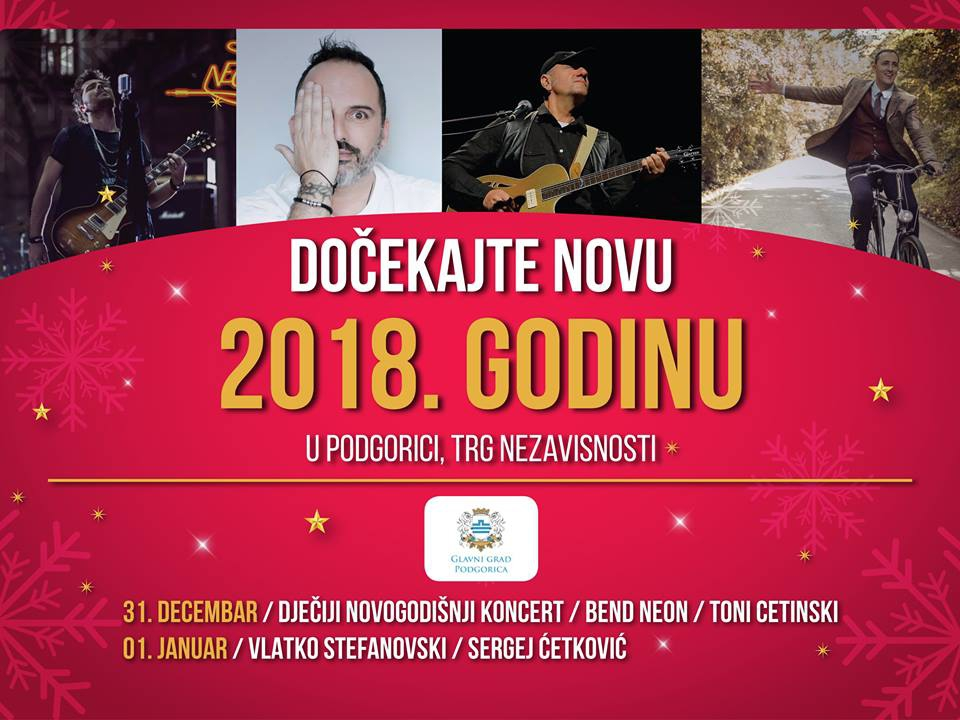 New Year 2018 in Podgorica