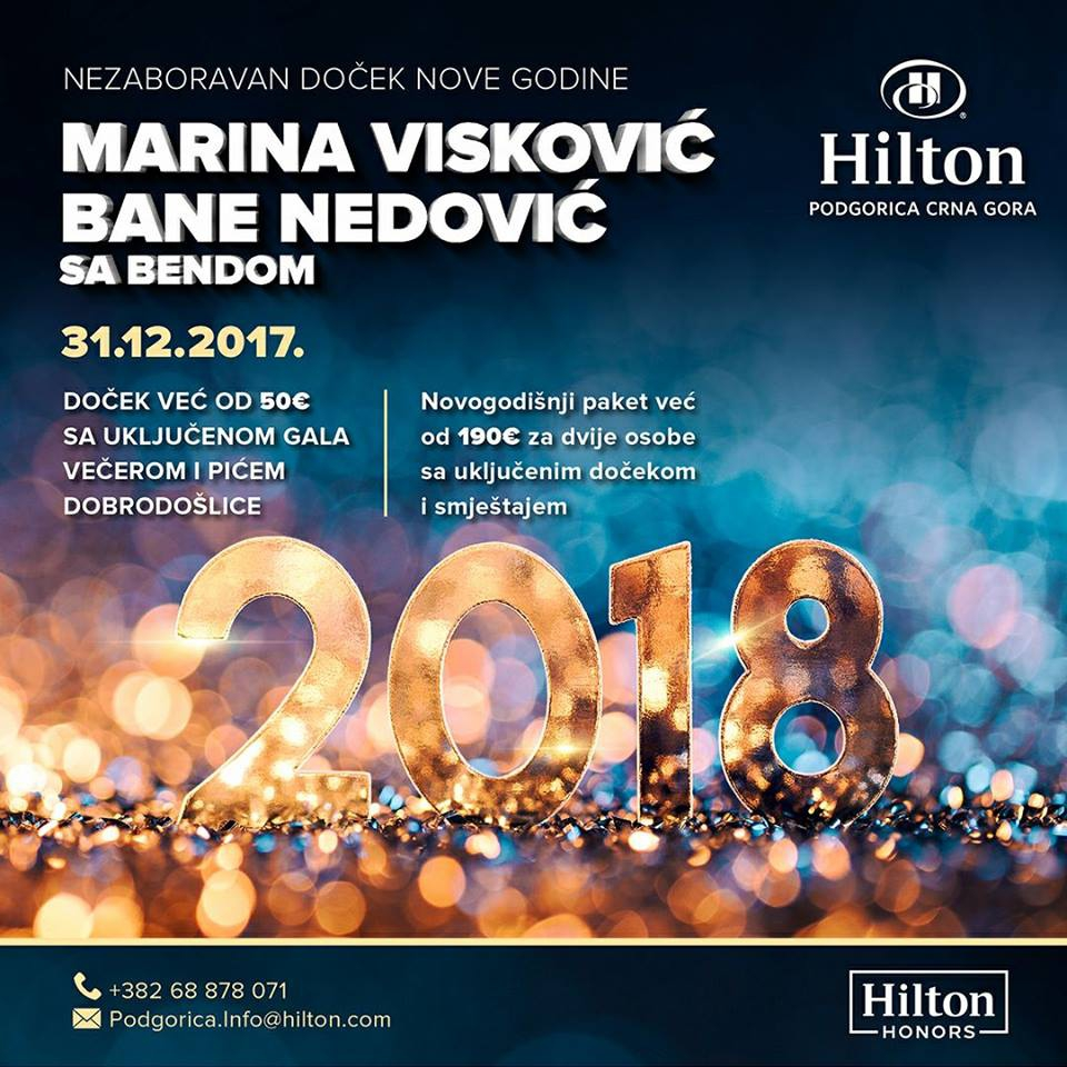 New Year at Hilton Hotel in Podgorica
