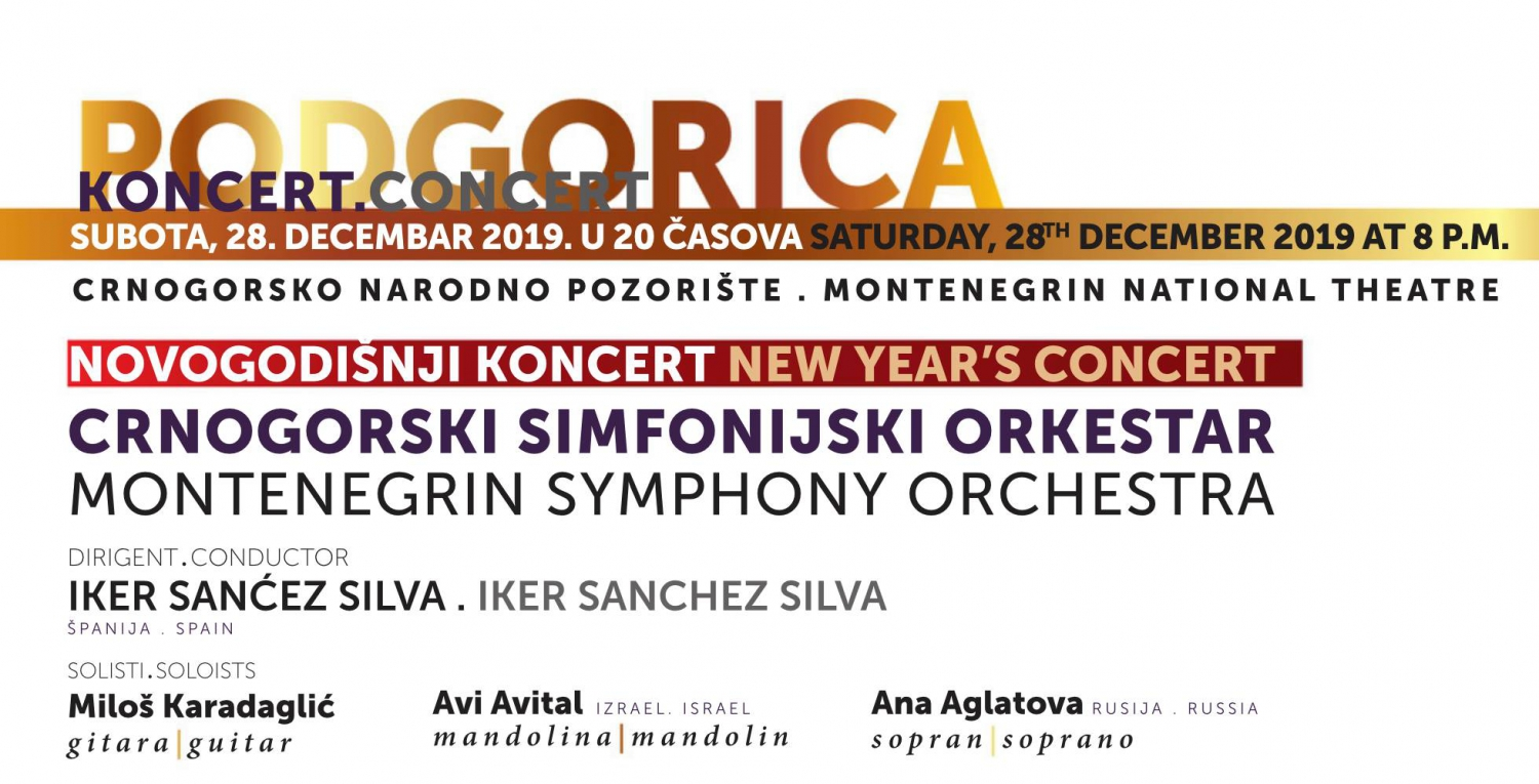 New Year's Concert at Montenegrin National Theatre