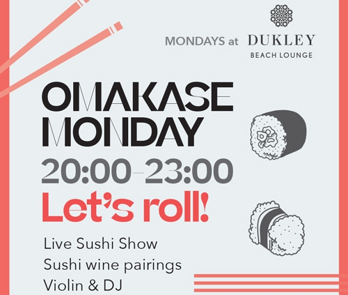 Omakase Monday at Dukley Beach Lounge