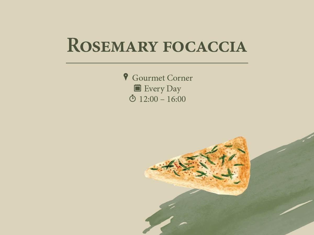 Rosemary Focaccia at Regent Porto Montenegro