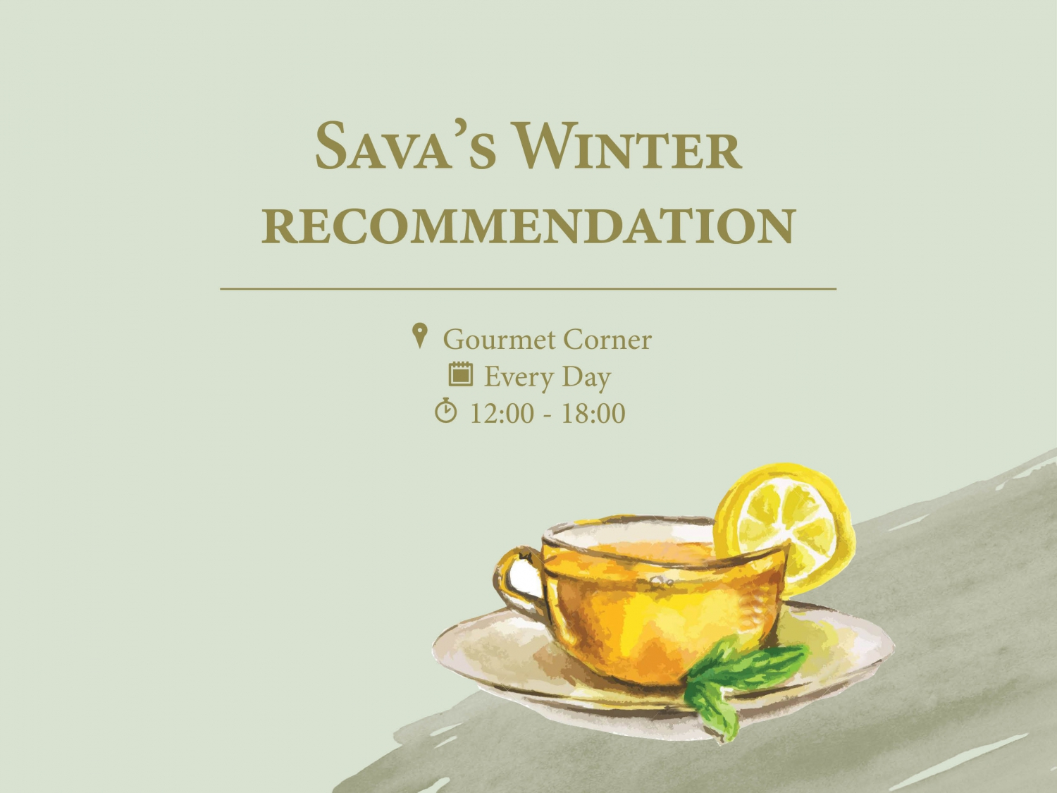 Sava's Winter Recommendation