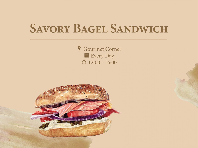 Savory Bagel Sandwich
