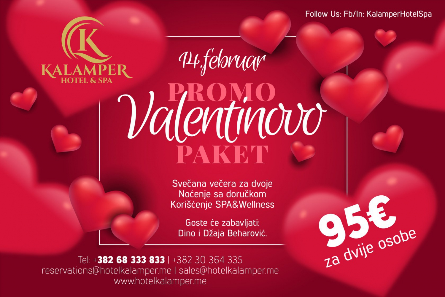 Valentine's Day at Kalamper Hotel&Spa