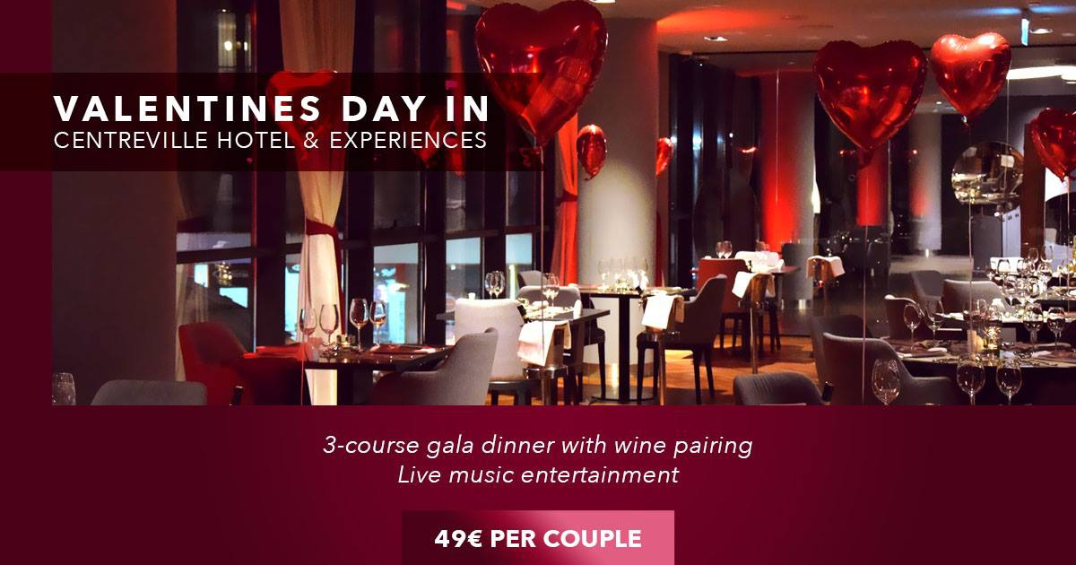 Valentines Day Gala Dinner at CentreVille Hotel & Experiences