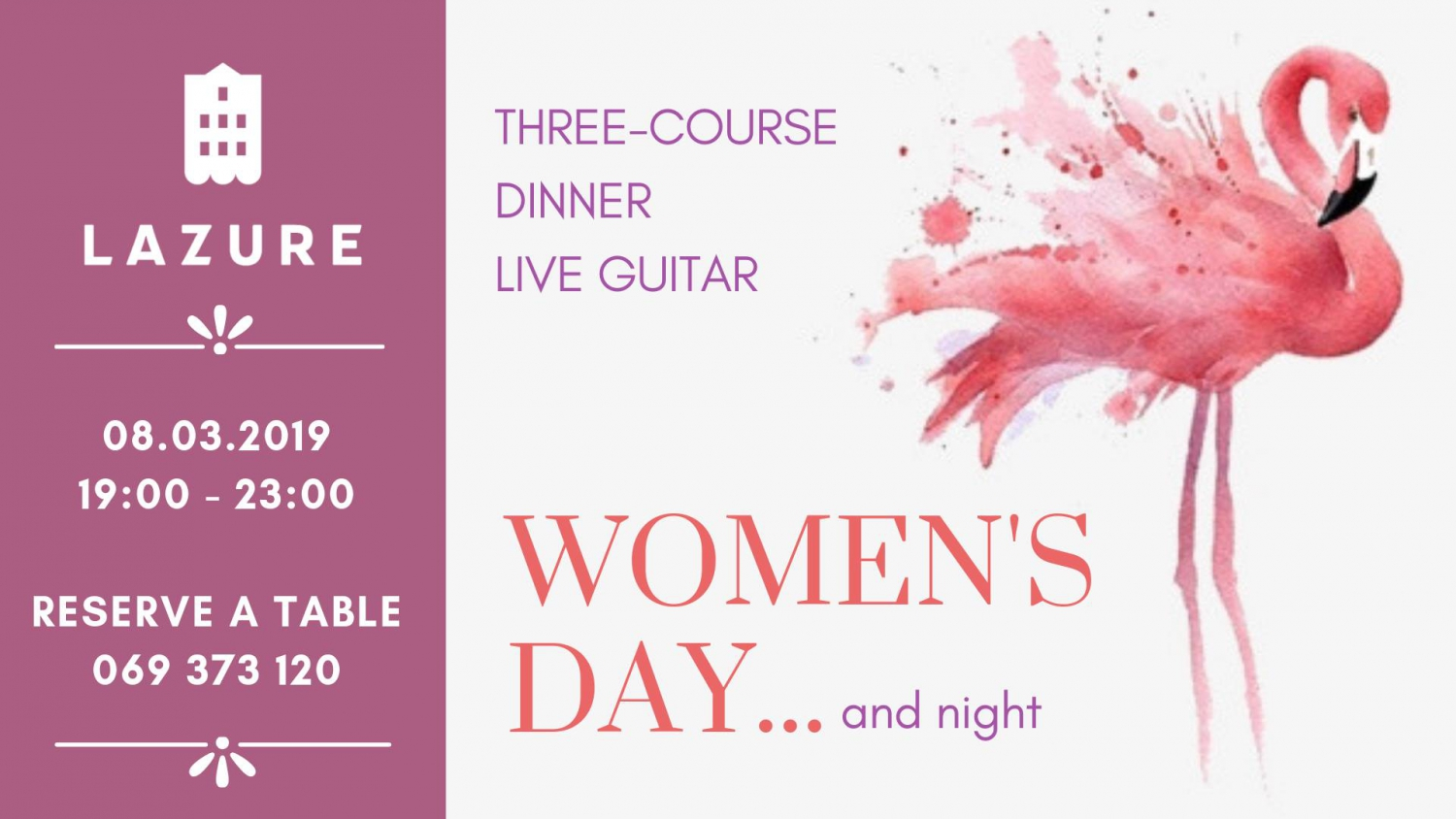 Women's Day Dinner at Lazure Hotel&Marina
